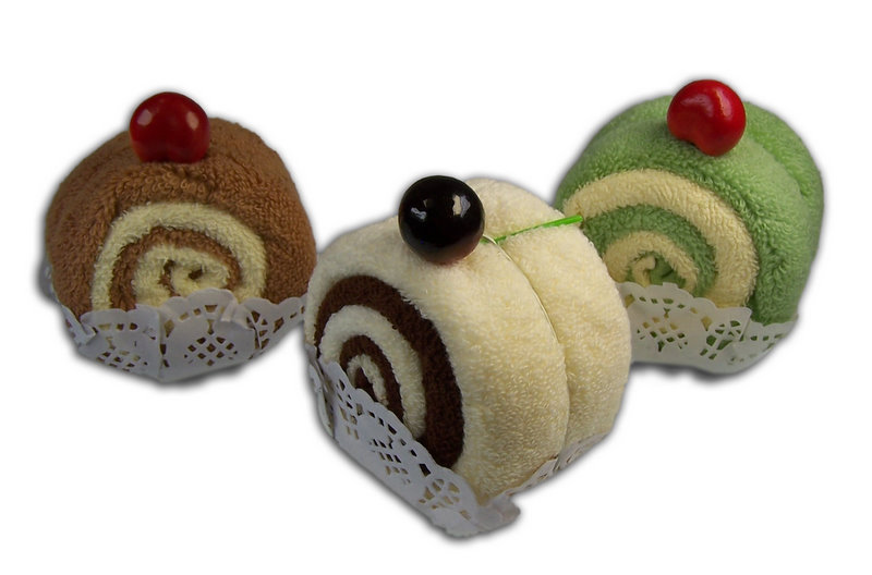 Slice of Swiss Roll - Towel Gift