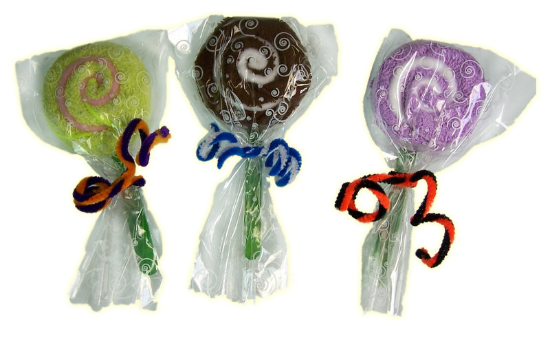Small Towel Lolly Pops - Towel Gift