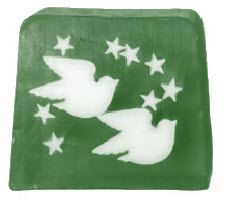Twin Dove Stars Christmas Trendy Soap